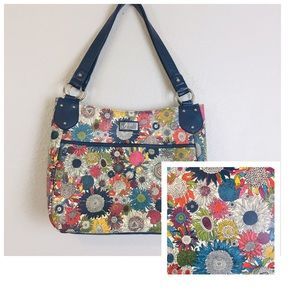 Gigi Hill Los Angles Large Floral Tote